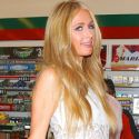 Paris Hilton Makes A Cigarette Stop At 7-11 Before Hitting The Club