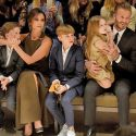 The Beckhams Sit Front Row At Burberry And Snap Photos With Their Famous Friends