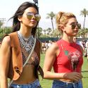 Kendall Jenner And Hailey Baldwin Scope Out The Scene At Coachella