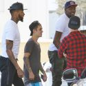 Justin Bieber Is Dwarfed By His NBA Buddies While Shopping At Barneys