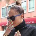 Jennifer Lopez Rocks Crazy Neon Nails In New York City