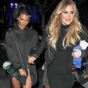 Khloe Kardashian And Kendall Jenner Get All Dolled Up For The Clippers Game