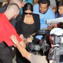 Kim Kardashian Causes Chaos With Her Seriously Clingy Catsuit At LAX