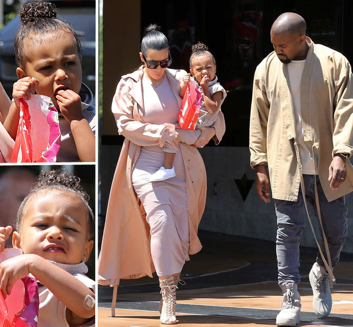 Kim And Kanye Take Nori And Their Unborn Child To The Movies