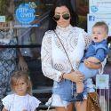 Kim And Kourtney Kardashian Bond With Their Kids At The Jungle Gym