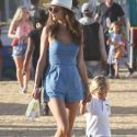 Alessandra Ambrosio Pals Around With Her Kids At The Annual Malibu Chili Cook-Off