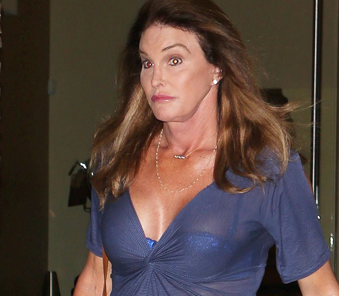 SEE THE GALLERY Caitlyn Jenner Shows Some Major Boob In A Low Cut ...: http://www.x17online.com/2015/09/caitlyn_jenner_cleavage_blue_dress_short_guy_tattoos_coffee_photos_092115