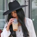 Vanessa Hudgens Slurps On Her Coffee After Visiting The Salon