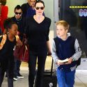 Angelina Jolie And Her Oldest Kids Return From London