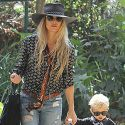 Fergie And Her Little Man Axl Match In Bandanas And Shades