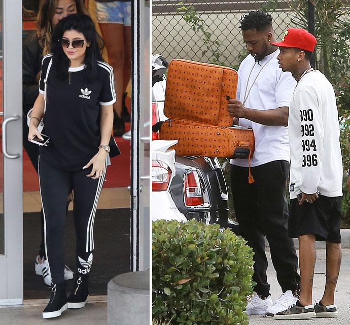Kylie Jenner Shops  Til She Drops As Tyga Flies Off In Private Jet. Kylie Jenner Shops  Til She Drops As Tyga Flies Off In Private Jet