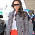 Victoria Beckham Is Sherlock Chic In Plaid