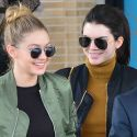 Gigi Hadid And Kendall Jenner Go-Last Minute Christmas Shopping In Matching Outfits