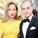 Jennifer Lopez And Casper Smart Strike A Pose On The 2016 Golden Globes Red Carpet