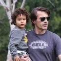 Oliver Martinez Has A Blast Playing With His Son At The Park