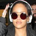 Rihanna Jams At LAX