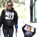 Fergie And Her Adorable Son Axl Enjoy A Day Of Mini Golfing