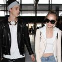 Lily-Rose Depp Jets Out Of LAX With Her Boyfriend