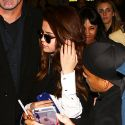 Selena Gomez Gets Bombarded By Fans At LAX