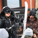 Khloe And Kylie Hit The Slopes, While Kendall And Kris Hit The Shops During Kardashian Family Ski Trip