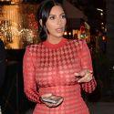 Kim Kardashian Shows Off Her Bangin' Body In A Sheer Red Dress