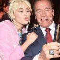 Miley Cyrus Snaps Selfies With Ex Patrick Schwarzenegger's Dad, Arnold Schwarzenegger