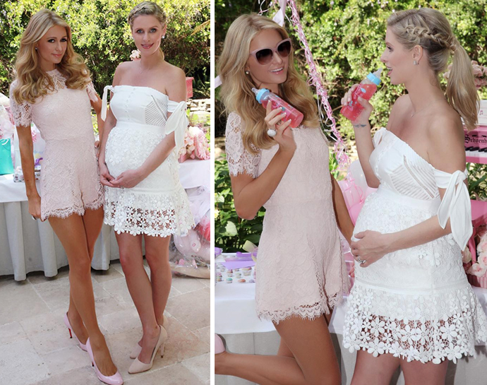 Had Her Baby Shower At The Hotel Bel Air In Los Angeles On Friday Afternoon And Sister Paris Was Hand To Record Celebration