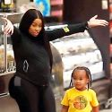 "<em><span class=""exclusive"">EXCLUSIVE PHOTOS</span></em> - Blac Chyna Shows Off Baby Bump During Trip To Supermarket With Son King Ciaro"