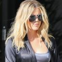 Khloe Kardashian Squeezes Her Nips Into A Skintight Satin Outfit