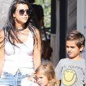 Hot Mama Kourtney Kardashian Bonds With Her Two Oldest Kids In The 'Bu