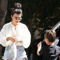 Kourtney Kardashian Gets A Hug From Her Sweet Son Mason