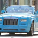 Scott Disick Is Livin' Large In His Bright Blue Rolls Royce