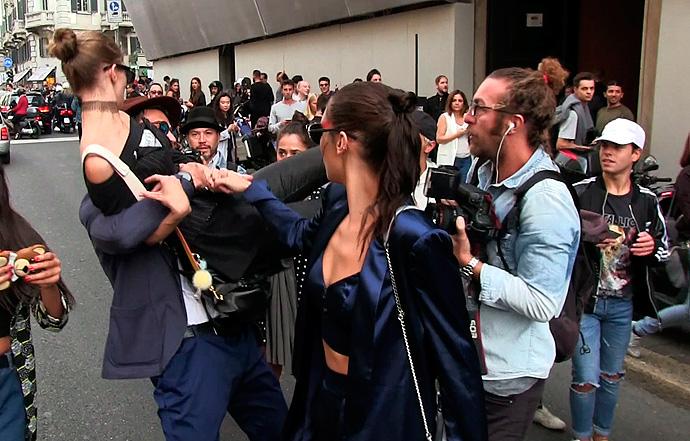 Supermodel Gigi Hadid defends herself after man grabs her