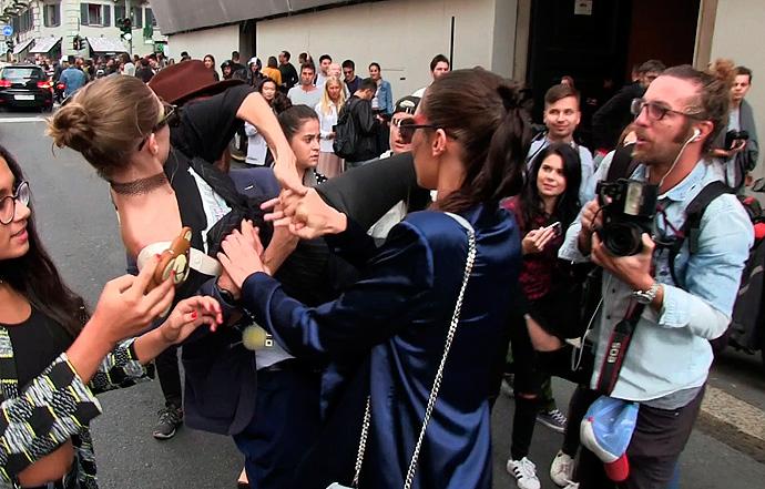Gigi Hadid fights off stranger that manhandles her at Milan Fashion Show