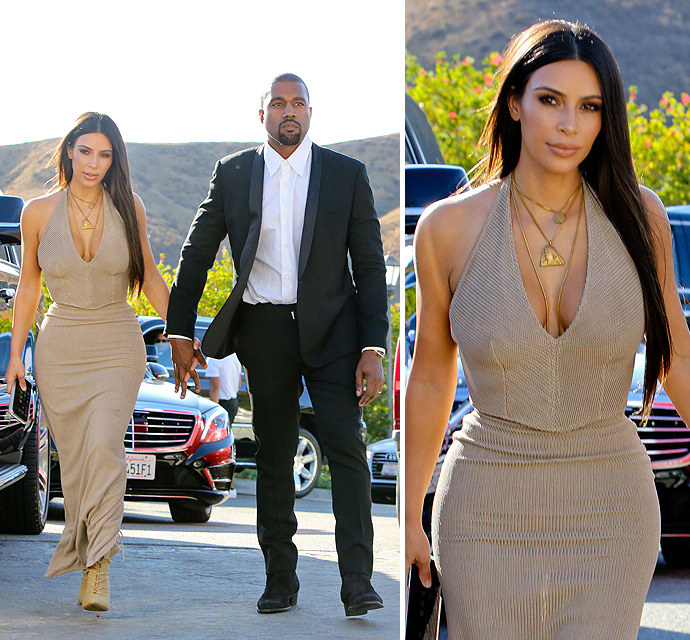 FIRST PHOTOS - Kim And Kanye's Wedding Style Is On FLEEK!