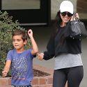 Kourtney Kardashian Shows Off Her Maternal Skills And Her Underwear Lines
