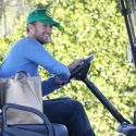 Take Note, Leo! Chris Martin Ditches His Car For A Golf Cart