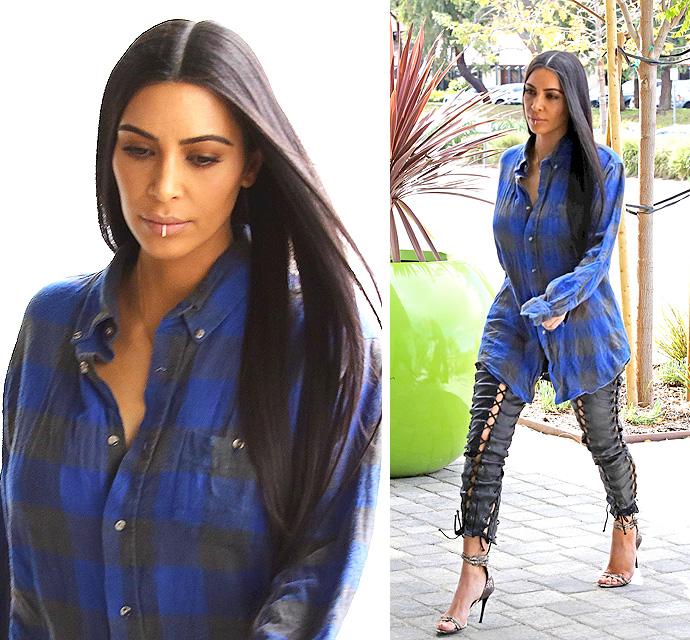 Kim Kardashian shares throwback of Kanye getting hands-on