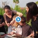 Umm... Watch Angelina And Her Kids Eat Tarantulas In Cambodia!
