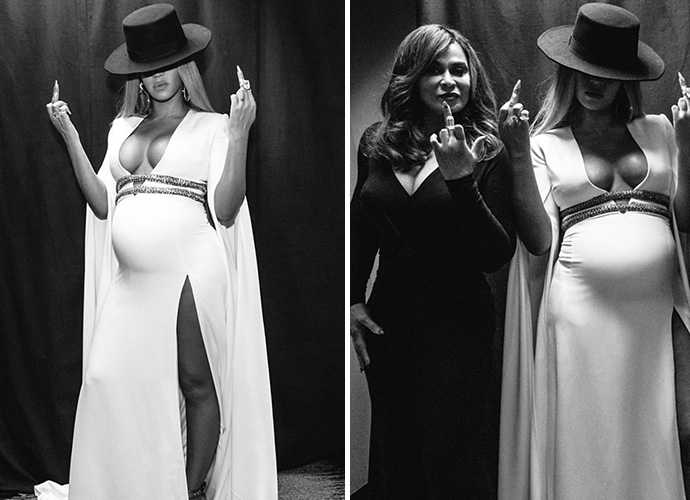 Beyonce slays her pregnancy in style at sister Solange's Grammys after-party!