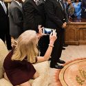 Kellyanne Conway Gets Backlash For Kneeling On Oval Office Couch During Meeting