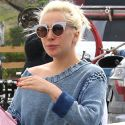Lady Gaga Wears Striped Short Shorts On Her Coffee Run