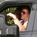Robin Thicke Celebrates His 40th Birthday With Son Julian At The Drive-Thru