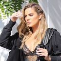 Khloe Kardashian Wears SUPER Sexy Lingerie With Sweats And Slides