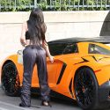 "<em><span class=""exclusive"">EXCLUSIVE PHOTOS</span></em> - Kylie Jenner Shows Tyga What He's Missing - A $400K Lamborghini Aventador And A <em>Very</em> Juicy Booty"