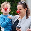 Jen Garner And Son Samuel Clown Around On Red Nose Day