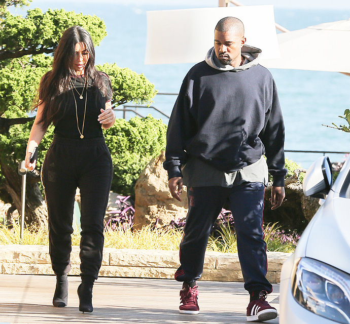 Kim And Kanye Enjoy Rare Date; Both Look Somber As They Leave A Late Lunch At Nobu Malibu