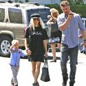 Fergie Dresses Down For Church With Josh Duhamel And Son Axl