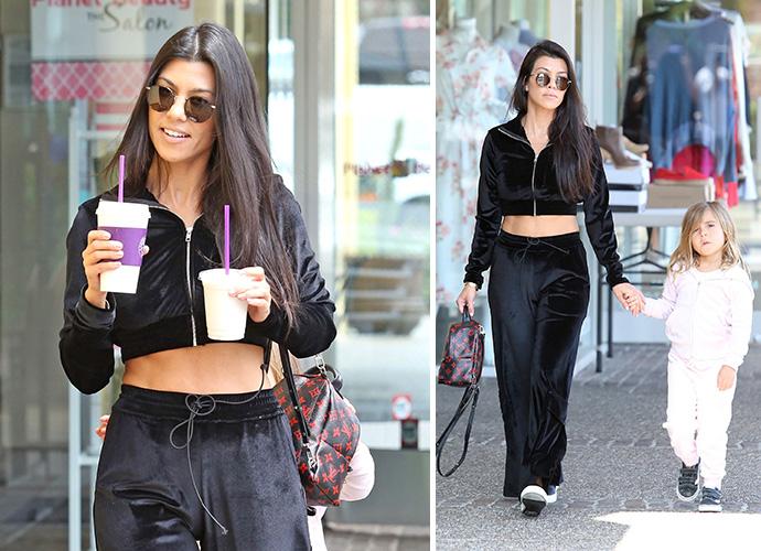 Kourtney Kardashian 'Worried' About Scott Disick Leads Today's Star Sightings