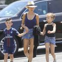 Nicole Richie Rocks Short Shorts On An Outing With Her Kids